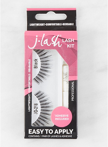 False Eyelash Kit | Black JG218,BLACK,large