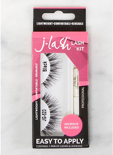 False Eyelash Kit,BLACK,large