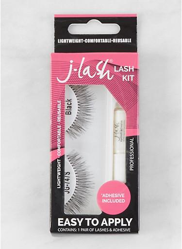 False Eyelash Kit | Black JG747S,BLACK,large