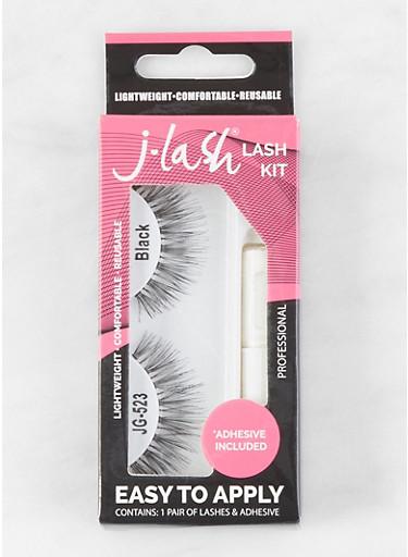 False Eyelash Kit,BLACK,large