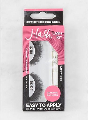 False Eyelash Kit | Black JG20,BLACK,large