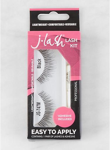 False Eyelash Kit | Black JG747M,BLACK,large