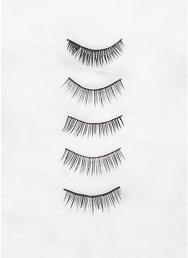 4 Pair False Eyelashes,BLACK,large