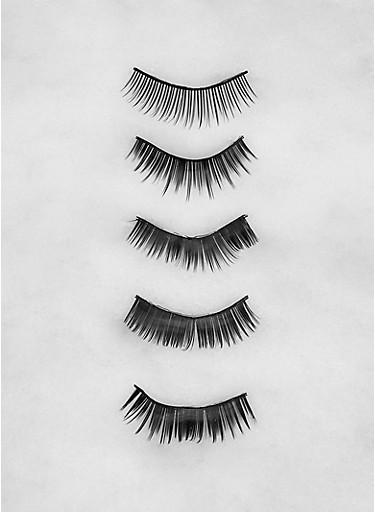 5 Pair False Eyelashes,BLACK,large