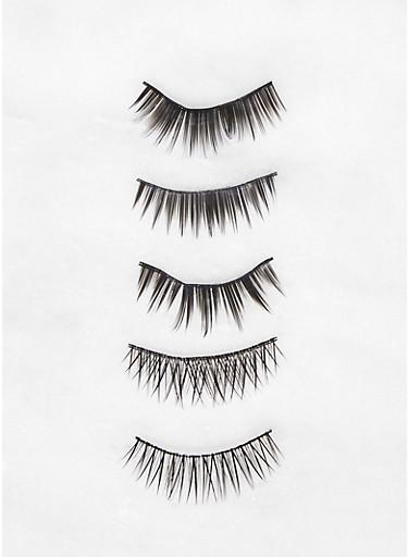 5 Pairs False Eyelashes,BLACK,large