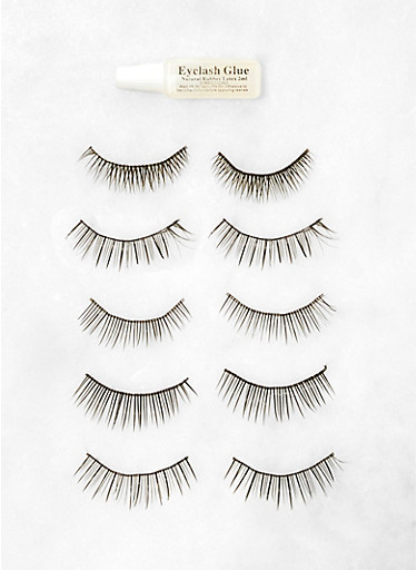 5 Pair Everyday False Lashes,BLACK,large