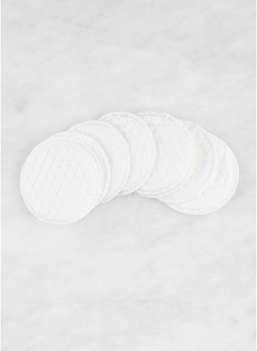 Natural Cotton Rounds 40 CT,WHITE,large