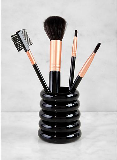 5 Piece Brush Set,BLACK,large