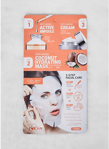 3 Step Coconut Hydrating Facial Care Kit,WHITE,large