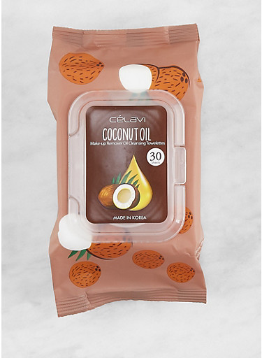 Coconut Oil Makeup Remover Wipes,BROWN,large