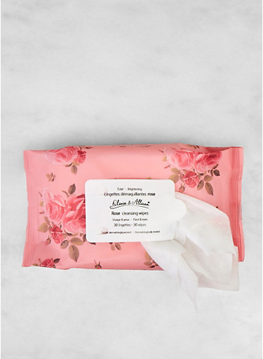 Rose Cleansing Wipes,PINK,large