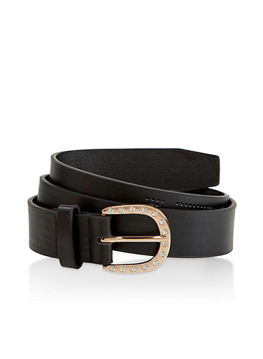 Perforated Trust No 1 Graphic Belt,BLACK,large