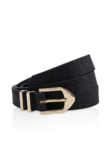 Lurex Skinny Belt,BLACK,large