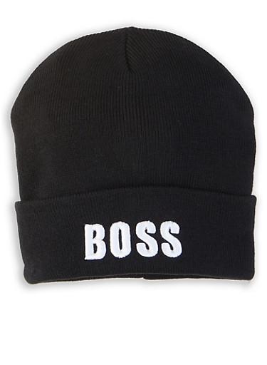 Boss Graphic Beanie,BLACK,large