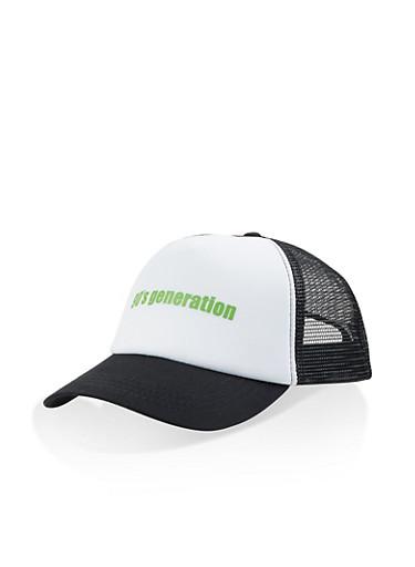 90s Generation Trucker Hat,WHITE,large