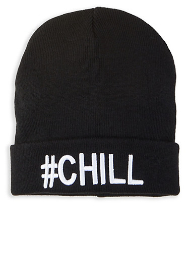 Chill Graphic Beanie,BLACK,large