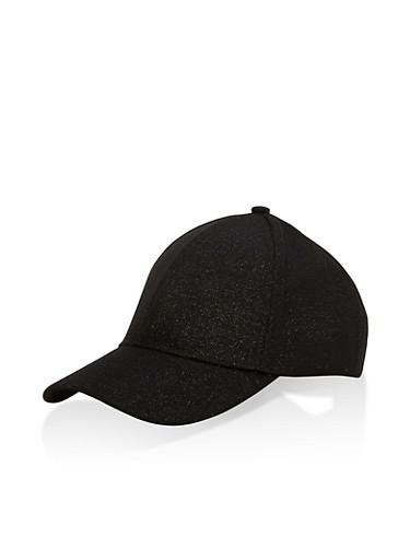 Glitter Mesh Baseball Hat,BLACK,large