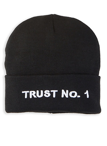 Trust No1 Beanie,BLACK,large
