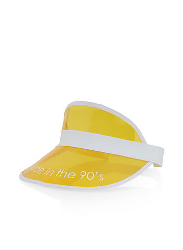 Made in the 90s Yellow Plastic Visor,YELLOW,large