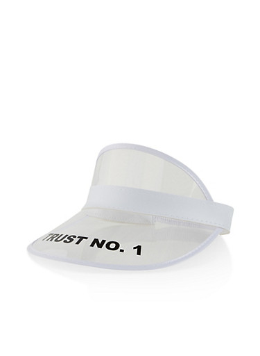 Trust No 1 Clear Plastic Visor,CLEAR,large