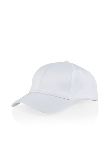 Scuba Knit Baseball Cap,WHITE,large
