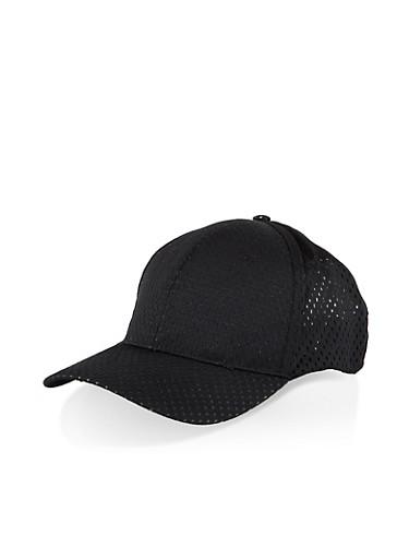 Jersey Mesh Baseball Hat,BLACK,large
