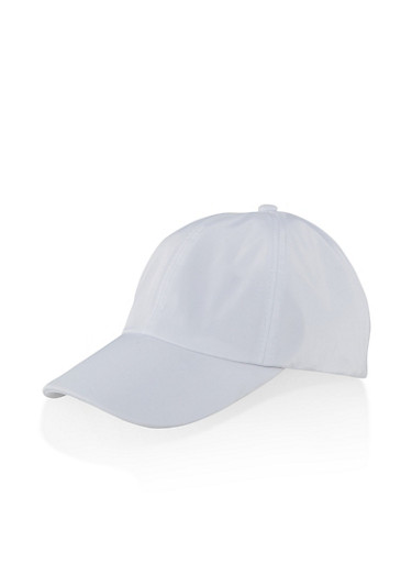 Nylon Baseball Cap | 1129074391278,WHITE,large