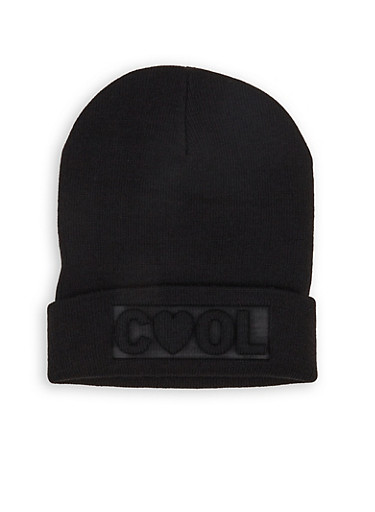 Cool 3D Graphic Beanie,BLACK,large