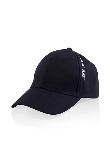 Love Me Embroidered Baseball Cap,BLACK,large