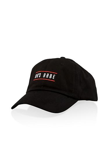 90s Babe Embroidered Baseball Cap,BLACK,large