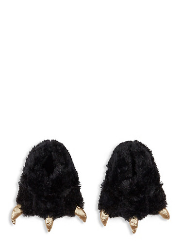 Monster Claw Slippers,BLACK,large