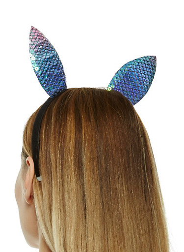 Sequin Bunny Ear Headband,MULTI COLOR,large