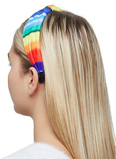 Tie Dye Knotted Headband,MULTI COLOR,large