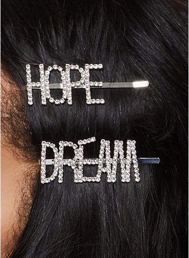 Dream Hope Bobby Pin Duo,SILVER,large