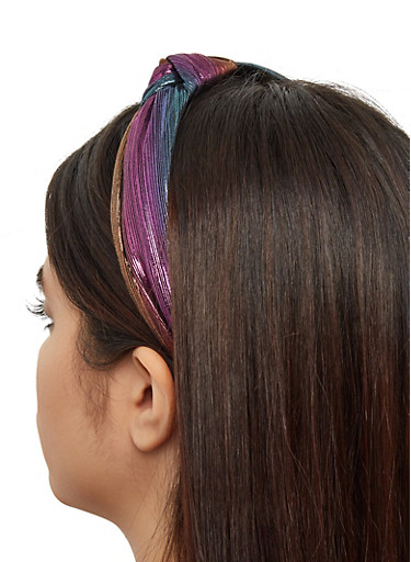 Iridescent Knotted Headband,MULTI COLOR,large