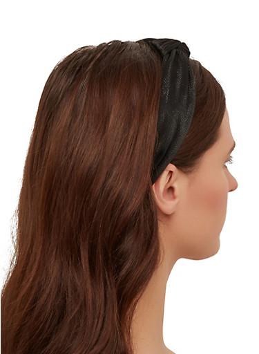 Black Knotted Headband,BLACK,large