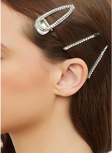 Rhinestone Hair Accessories,SILVER,large