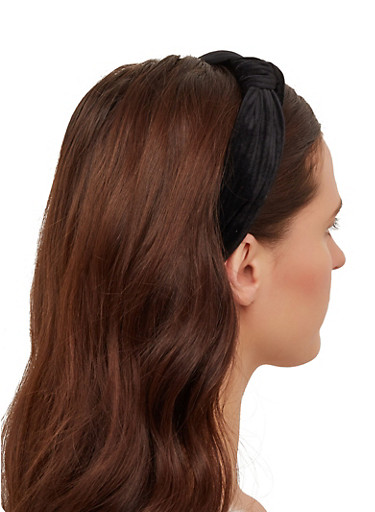 Knot Detail Headband,BLACK,large