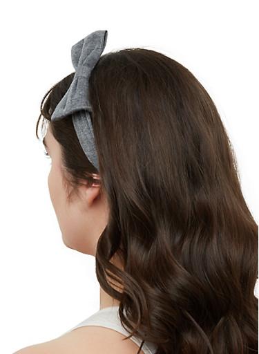 Set of 2 Bow Headbands,BLACK,large