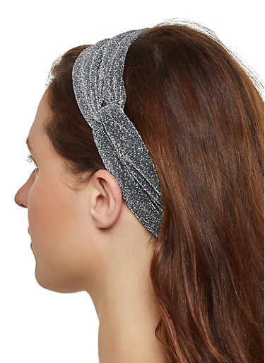 Lurex Head Wrap,GRAY,large