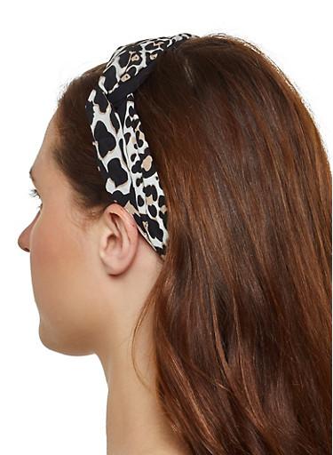 Leopard Head Wrap,BLACK,large