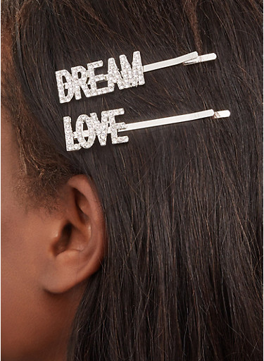 Love Dream Bobby Pins,SILVER,large