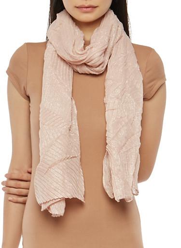 Crinkled Glitter Knit Scarf,BLUSH,large