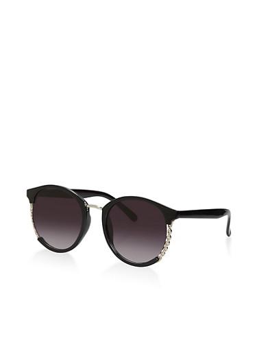 Chain Detail Sunglasses,BLACK,large