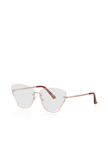 Clear Cat Eye Glasses,ROSE,large