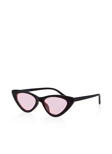 Colored Cat Eye Sunglasses,PINK,large