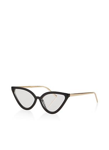 Cat Eye Glasses,BLACK,large