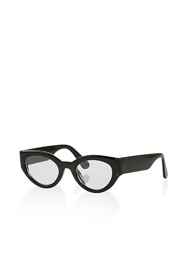 Plastic Cat Eye Glasses,BLACK,large