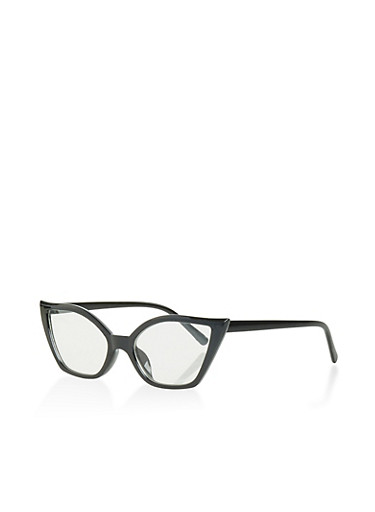 Small Cat Eye Glasses,BLACK,large