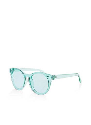 Round Colored Plastic Sunglasses,MINT,large